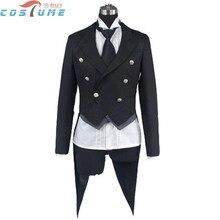 Black Butler Sebastian Michaelis Anime Halloween Cosplay Costume Shirt Vest Coat Tuxedo For Men