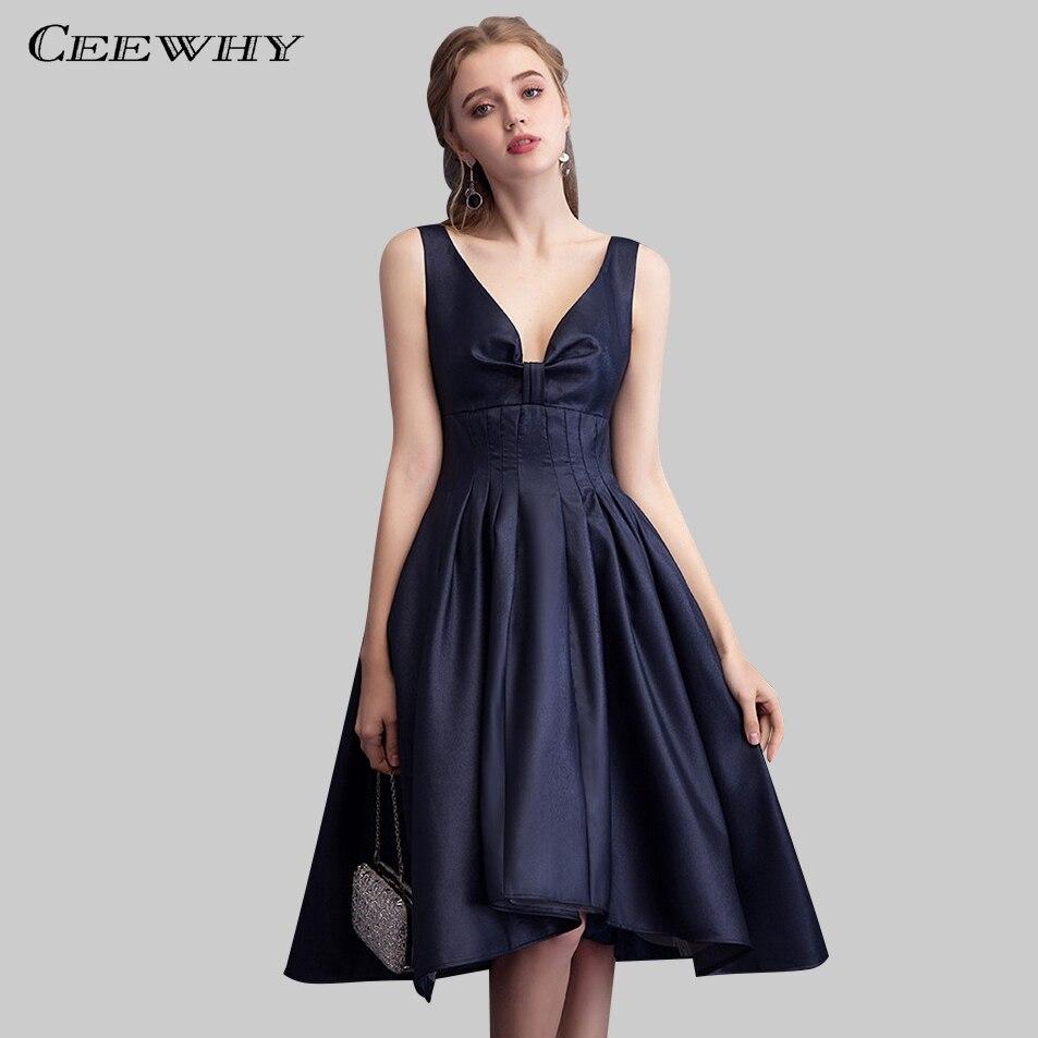 ceewhy open back short evening dress robe de soiree courte 2018 mother of the bride dresses