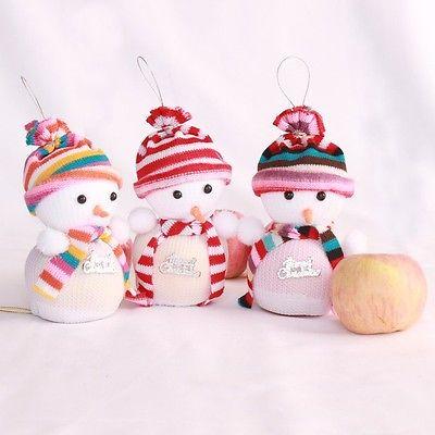 Christmas Eve Snowman Party  Fruit Candy Gift Bag Sweet Sack Filler Gift Apple Wrap Bag