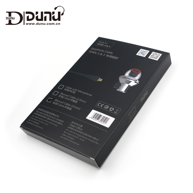 DUNU Original 2.5mm 3.5mm Balanced Earphone Cable made for TITAN3 / TITAN5 6