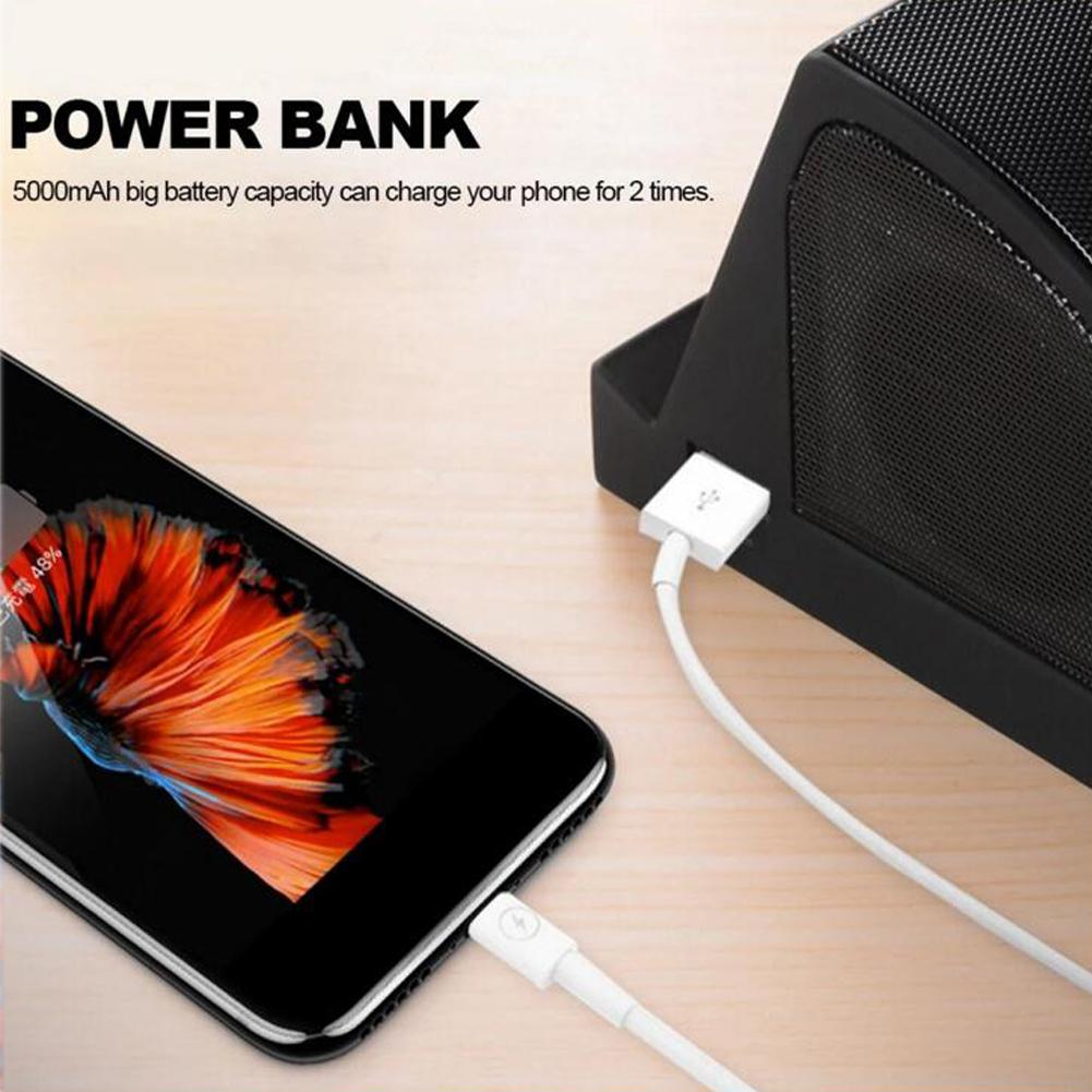 New arrival 2019 5W 5V/2.1A Multifunctional <font><b>Speaker</b></font> Portable Chargeable Wireless <font><b>5000mAh</b></font> Bluetooth <font><b>Speaker</b></font> Power Bank r15 image