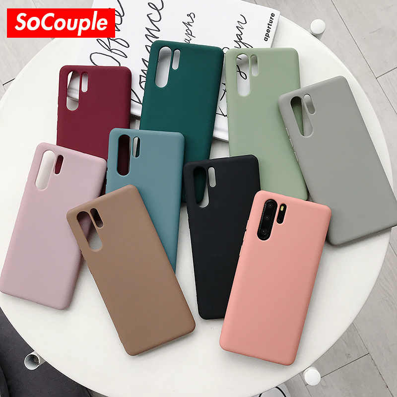 SoCouple Phone Case For Huawei P20 P30 Pro P10 plus Candy Color Soft TPU Case For Huawei Mate 20 10 Pro Nova 2s 3 3i 4 Cover