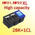 3pcs 21xl 22xl ink cartridge compatible for hp21 for hp22 for hp 21 22 DeskJet 3910 3915 3930 3930V 3940