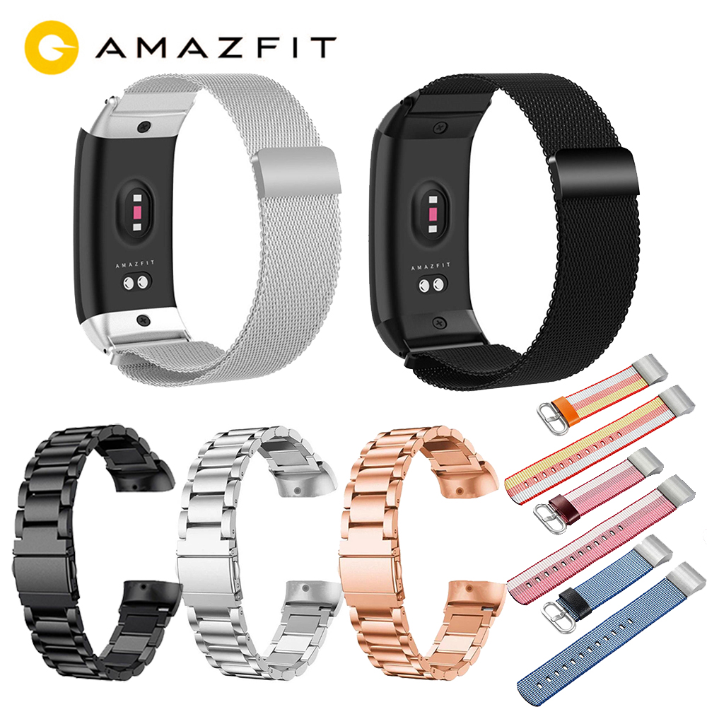 Amazfit Replacement-Strap Metal Smart-Bracelet Canvas Huami Stainless-Steel for 2 Cor-2