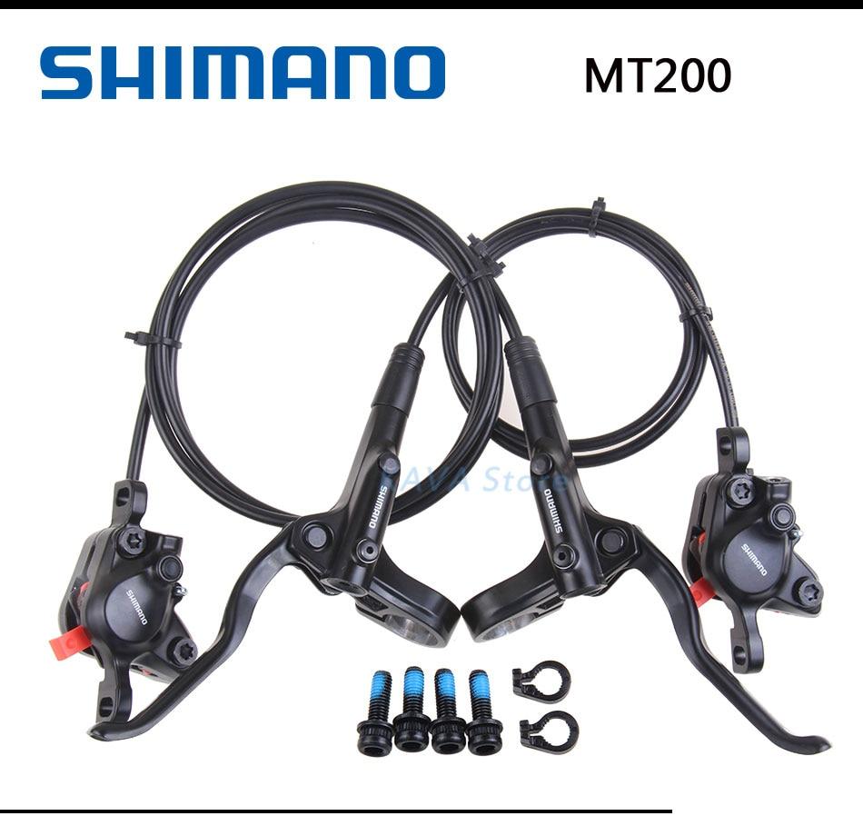 Shimano MT200 Hydraulic Brakes for Bikes BR-BL-MT200 Brake MTB Bicycle Disc Brake clamp Mountain Brake pads M315 new model 2018