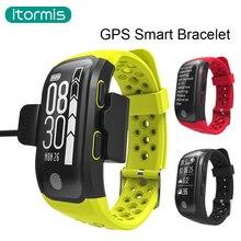 2017 новое поступление itormis B46 GPS Smart Band Bluetooth 4.0 сердечного ритма IP68 Водонепроницаемый сна Мониторы Шагомер умный Браслет