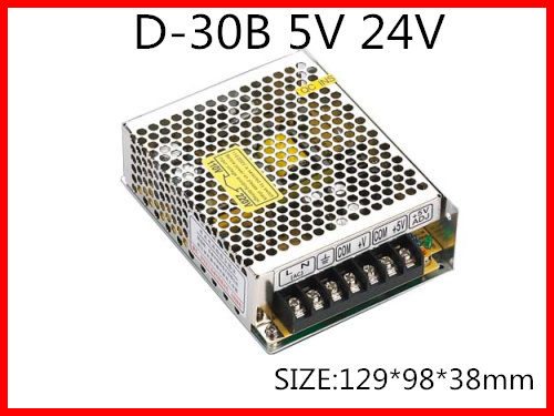 30W Dual Output Switching power supply Output Voltage 5V 24V  AC-DC Free Shipping D-30B free shipping120w mini dual output switching power supply output voltage 5v 24v ac dc d 120b