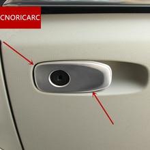 CNORICARC Interni In Acciaio Inox Copilota Glove Box Interruttore Cornice Decorativa Copertura Trim Per Volvo V40 CC Car Styling