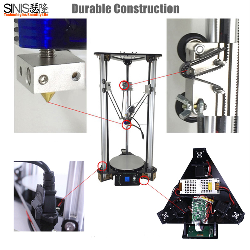 2018 Newest Sinis Z1 T1 Full Aluminum Frame Optional Laser Engraving Filament Run out Detect Auto Leveling 3d printer DIY kit in 3D Printers from Computer Office