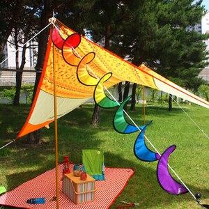Image 3 - 야외 액세서리 캠핑 텐트 foldable 레인보우 나선형 풍차 바람 스피너 홈 정원 장식