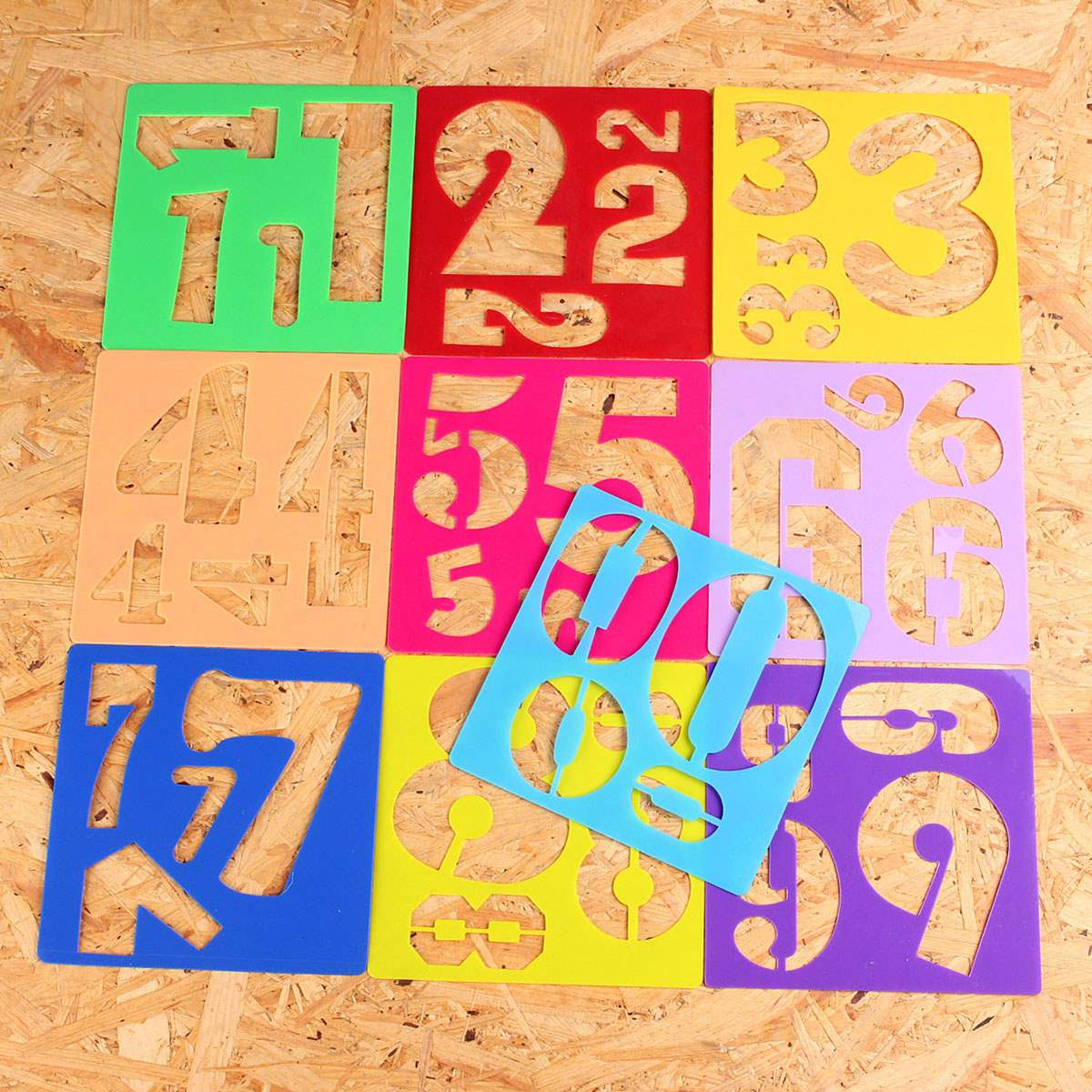 10pcs kids plastic numbers template craft drawing stencil toy oppssed painting children favor learning tool gift - Kids Drawing Stencils
