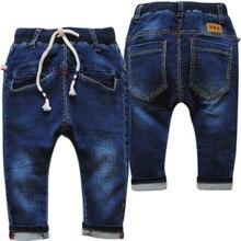 4012 petit harem jeans bébé jeans garçons marine bleu bébé pantalon occasionnels pantalon doux élastique garçon jeans nouveaux enfants printemps automne