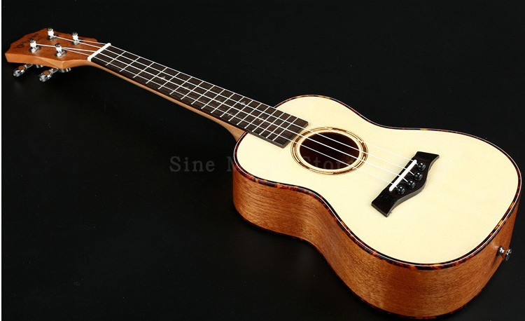 26 Inch Mahogany Ukulele Bass Spruce Guitar 4 Strings Ukelele String Tennor Wood Classical Guitar Hawaii Music Instrument moonembassy ukulele bass strings ubass string accessories