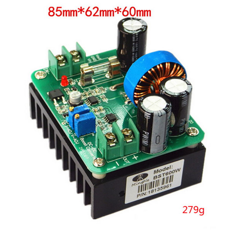 1 Piece DC-DC 600W IN 10-60V Out 12-80V Boost Converter Step-up Module Car Laptop Power Supply VEM59 1pcs 1500w 30a dc dc cc cv boost converter step up power supply charger adjustable dc dc booster adapter 10 60v to 12 90v module