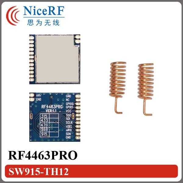 2pcs/lot RF4463PRO High sensitivity -126dBm915MHz SI4463 SPI interface Wireless RF Transmitter
