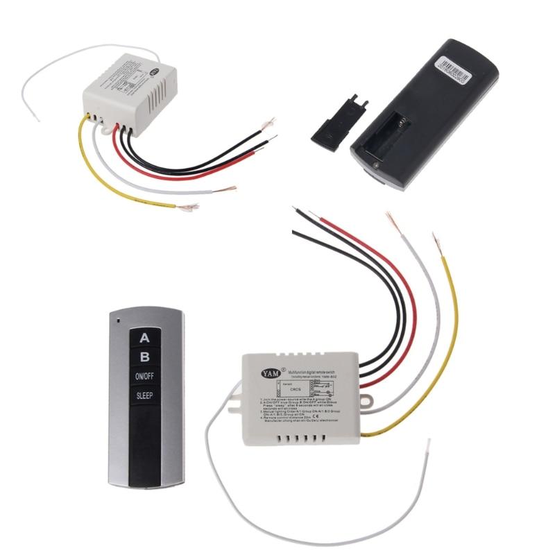 Ям Беспроводной 2 канала на/выключение лампы удаленного Управление коммутатора приемник передатчик