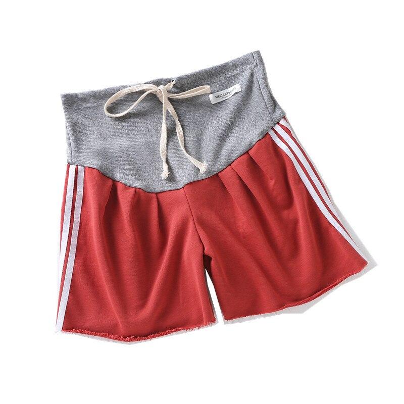 8153 # Zomer Casual Dunne Katoenen Moederschap Shorts Hot Sport Wijde Pijpen Losse Shorts Kleding voor Zwangere Vrouwen Zwangerschap Bodems