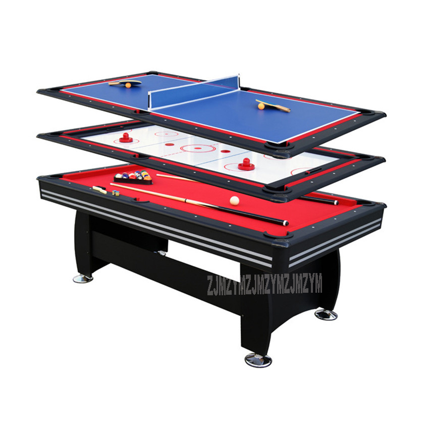 3 in 1 Billiard Table Set 7 Feet Table Tennis Ice Hockey Modern Style Strong Frame leg Sport Game Play Equipment SUM-8446A-3 36 multi function 4 in 1game table top kids toy table 4 different game soccer table tennis air hockey pool