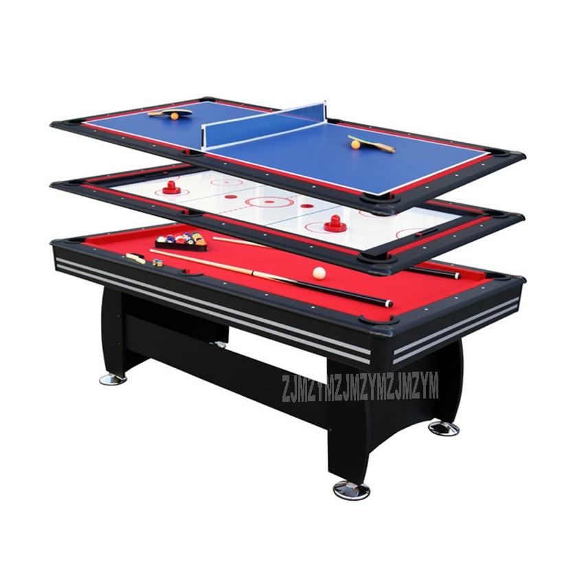 3 In 1 Billiard Table Set 7 Feet Table Tennis Ice Hockey Modern Style Strong Frame Leg Sport Game Play Equipment SUM-8446A-3