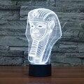 7 color change Egypt Pharaoh Shape 3D Illusion LED Night light USB touch light Table Lamp For Party Children Bedroom IY803398