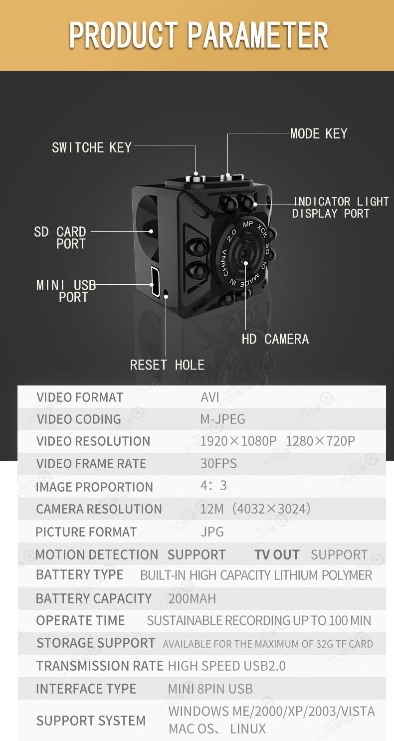 VRFEL Hot Products SQ10 Mini Camera HD Motion Sensor Mini USB Camera ...