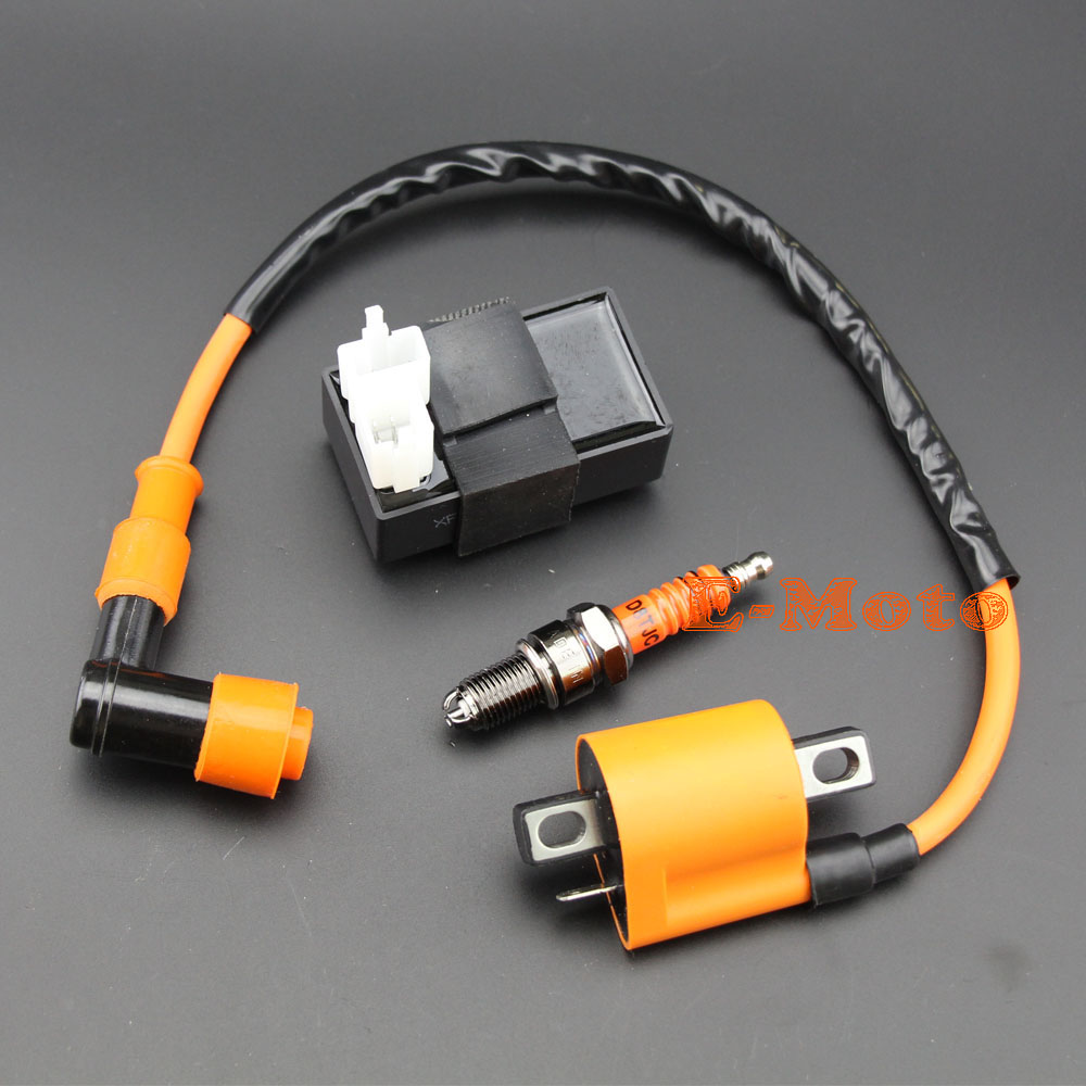 Performance Racing Ignition Coil CDI 3-Electrode Spark Plug D8TC D8TJC CG 125 150 200 250cc ATV Quad Dirt Bike Free Shipping
