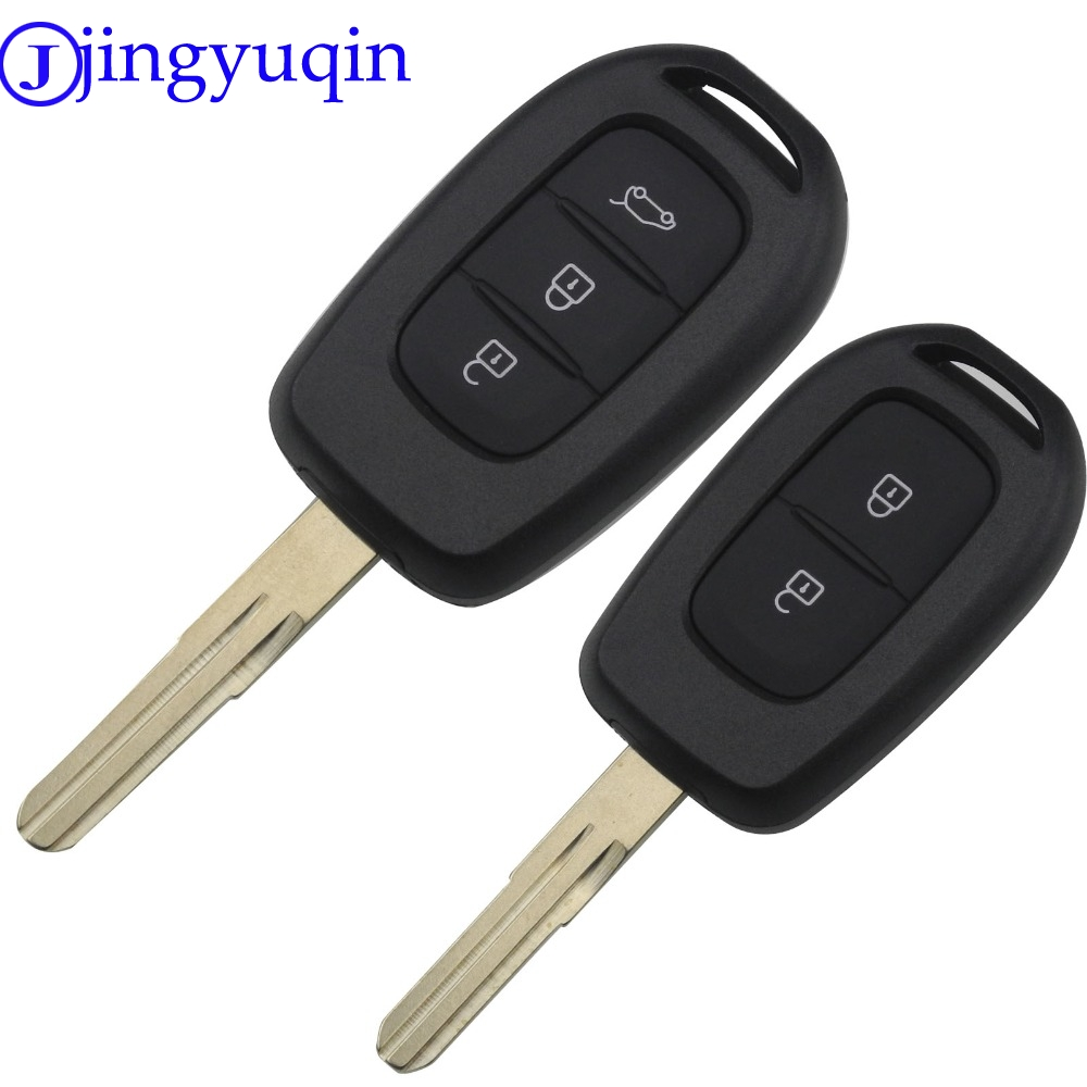 jingyuqin 10p Folding Flid Key For Renault 2 3 Buttons Remote Car Key Shell Case Cover