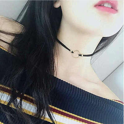 Choker Necklaces For Women  Velvet Strip Hollow Flower Short Clavicle Collares Fashion Jewelry Gothic Steampunk 2019