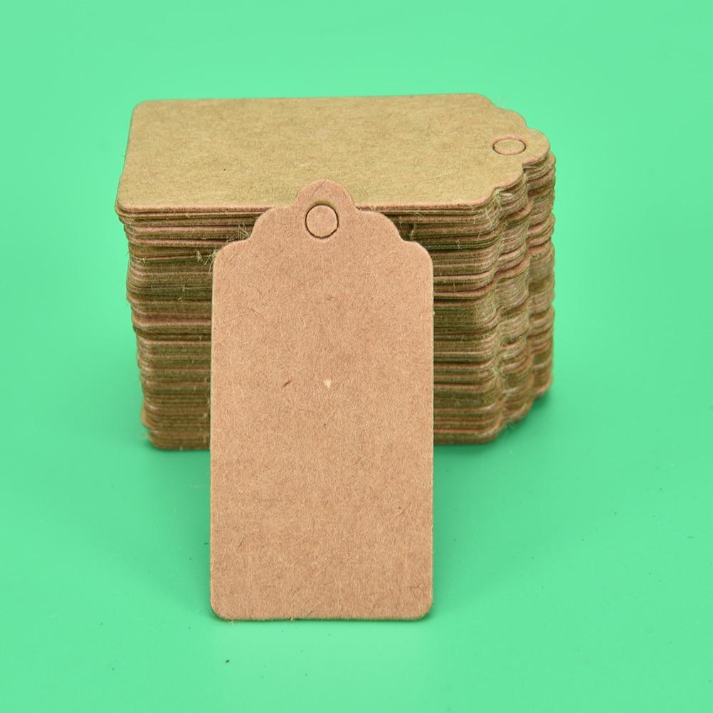 100 шт 4x2 см Крафт ценники для одежды висят DIY Подарок Рождественские принадлежности для украшения свадебной вечеринки прямоугольная бумажная этикетка