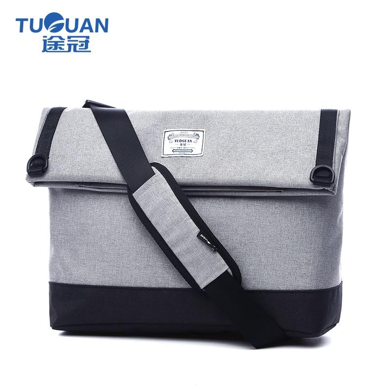TUGUAN erkekler haberci çanta yüksek kaliteli erkek seyahat çantası Moda Iş erkek omuz çantası klasik tasarım erkek kanvas çanta