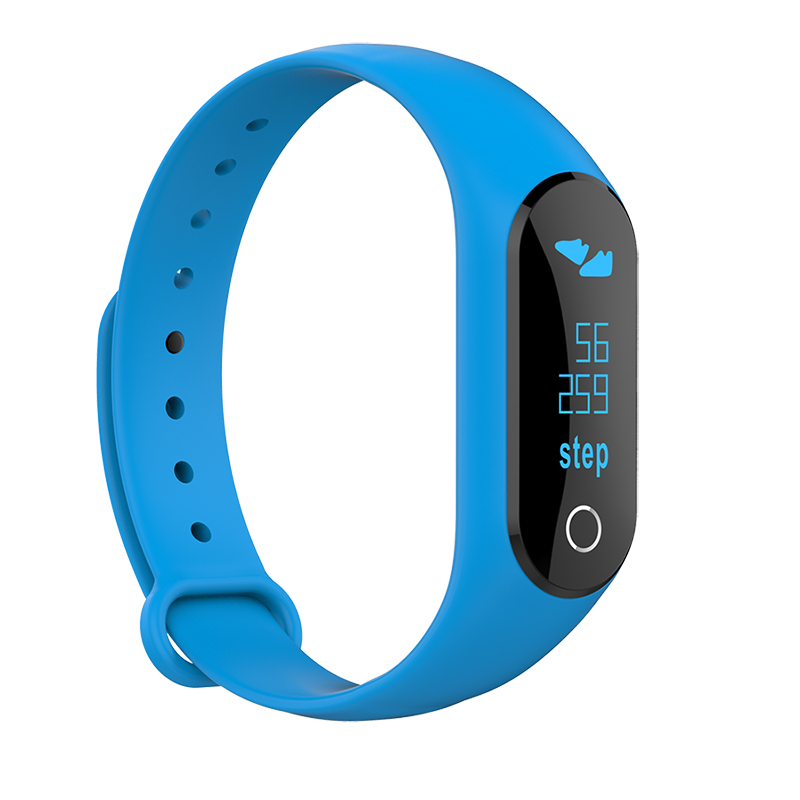 2017 New 0 86 inch OLED Heart Rate Monitor Band Fitness Wristbands with Message Push for