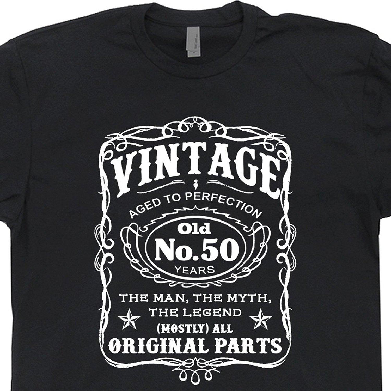 GILDAN 50th Birthday T Shirt 1966 Novelty Tee Shirts Gag Gift Vintage Present Dad Husband Old
