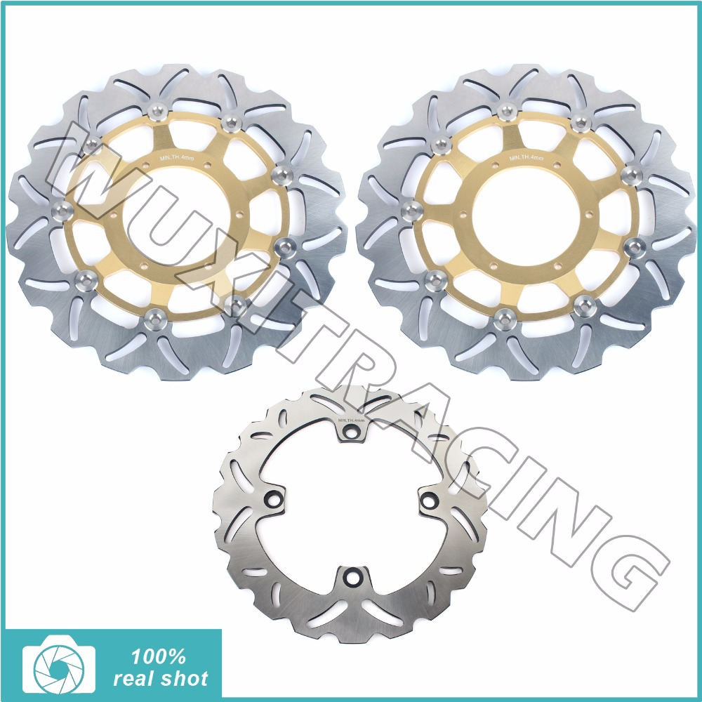2007 2008 2009 2010 2011 2012 2013 2014 2015 2016 2017 Full Set Front Rear Brake Discs Rotors for Honda CB 600 F Hornet / ABS for kawasaki zx10r 2006 2015 2007 2008 2009 2010 2011 2012 2013 2014 red