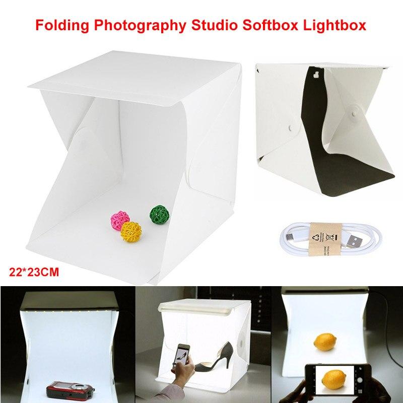 Portable Folding Lightbox For Photography Studio Softbox LED Light Soft Box Tent Kit For Phone DSLR Camera Photo Box