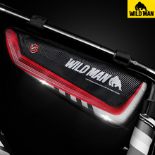 WILD MAN Bicycle Bag Rainproof Large Capacity MTB Road Bike Front Frame Bag Triangle Pouch Wear-Resisting Tools Bag Panniers