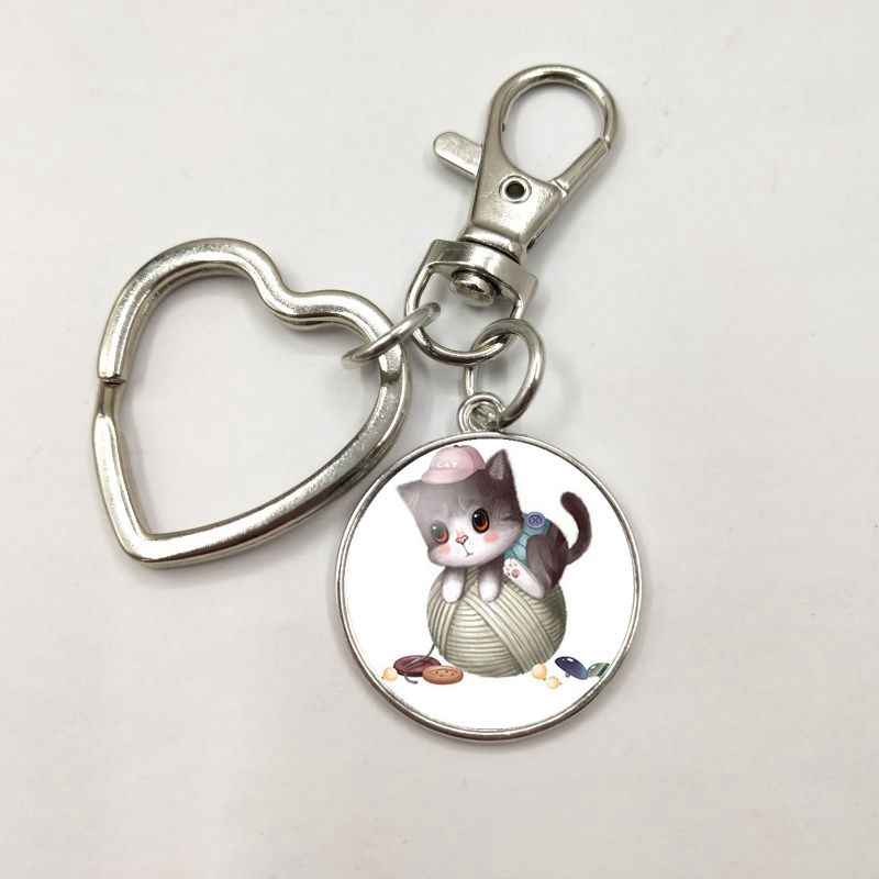 HOT! Arrival Riverdale Pendant keychain Mysteries of Riverdale Jewelry Glass Dome Pendants Silver Handmade Heart keychain