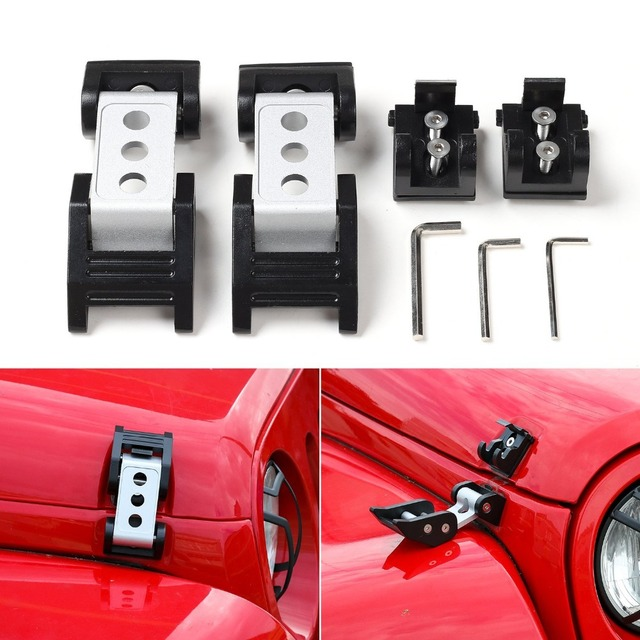 Jeep Wrangler Accessories 2017 >> For Jeep Wrangler Accessories Black Hood Lock Assembly Locking Hood