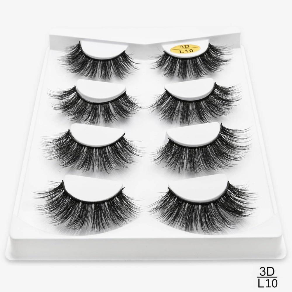 Image 5 - SEXYSHEEP 4/8 pairs 3D Mink Lashes Natural False Eyelashes Dramatic Volume Fake Lashes Makeup Eyelash Extension Silk Eyelashes-in False Eyelashes from Beauty & Health