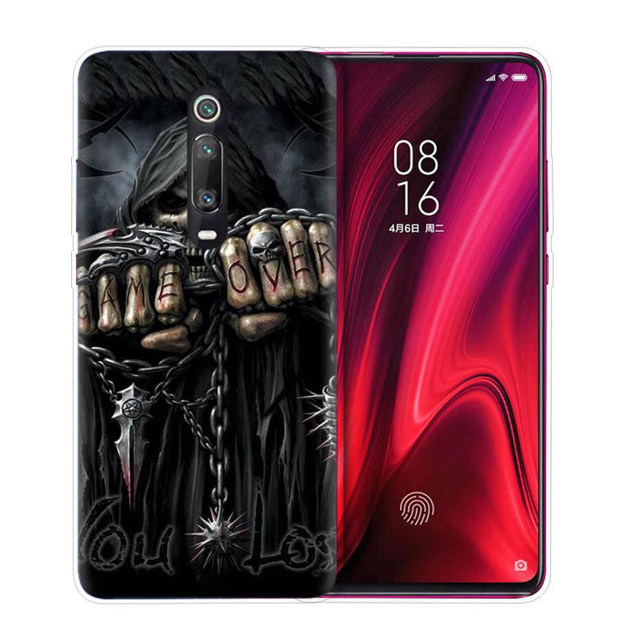 Grim Reaper גולגולת שלד מקרה עבור שיאו mi אדום mi הערה 8 8T 9S 7 9 פרו 7A k30 זום MI 10 5G CC9 9T 9T A3 Poco X2 F2 טלפון שקיות