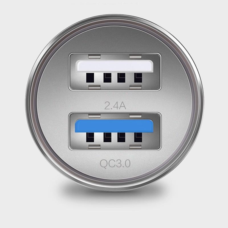 IPhone 8 X üçün DCAE Cüt USB Metal Avtomobil - Cib telefonu aksesuarları və hissələri - Fotoqrafiya 4