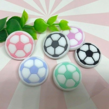 12PCS Silicone Baby Teether Mini Football Beads Chew Food Grade DIY Making Bracelet Accessories Childrens Toys