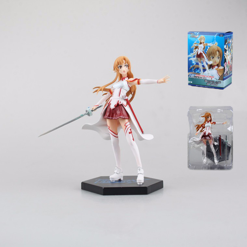 Sword Art Online II SAO Yuuki Asuna Action Figure Janpan Anime 17CM Pvc Cute Figma Collectible Model Hot Toys for Children Gifts japan anime figma sword art online yuuki asuna sao new pvc action figure collection model toys doll 15cm lc0183