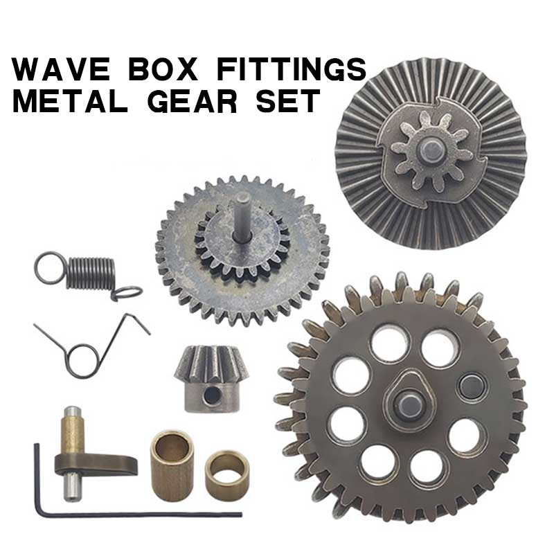 M4 Wave box No. 2 Metal gear set for JIN MING 8/9/10,Hardened Gear 18:1