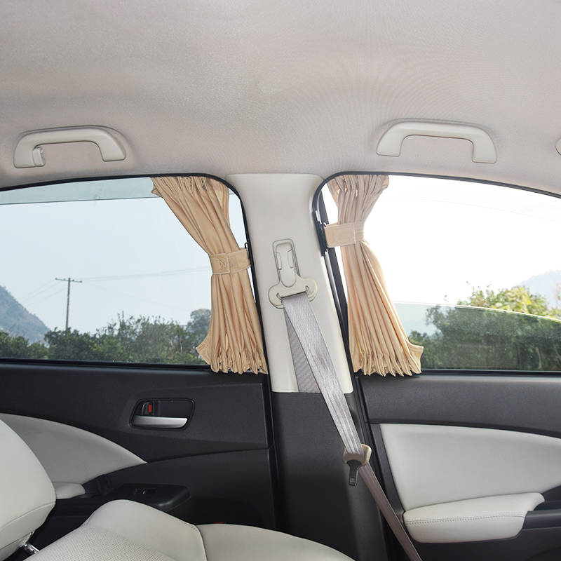2pcs/set Aluminum Alloy Elastic Car Side Window Sunshade Curtains Auto Windows Curtain Sun Visor Blinds Cover car-styling S,M,L