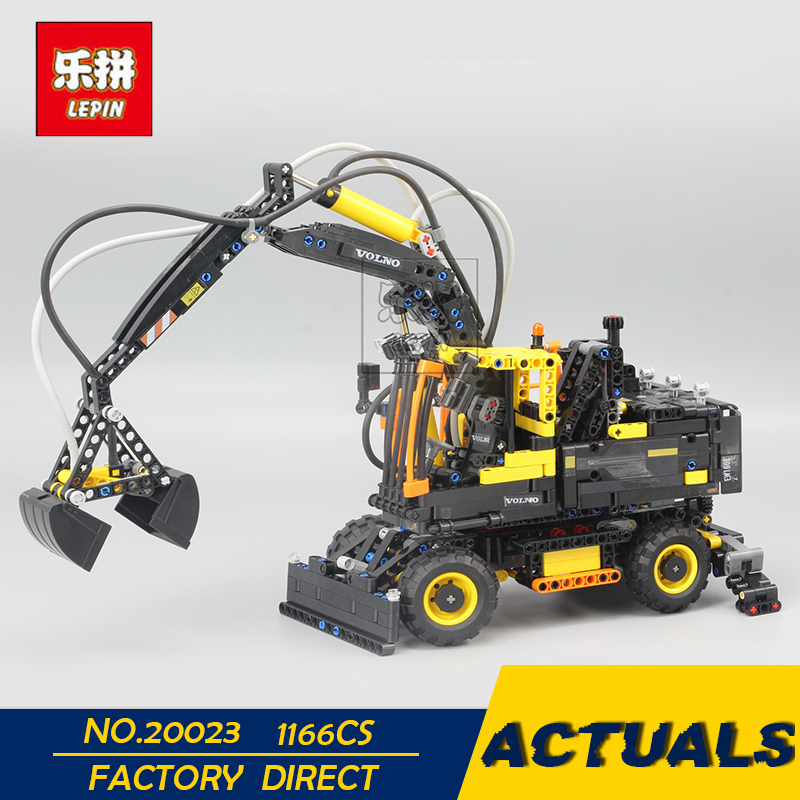 цена LEPIN 20023 1166Pcs Technical Ultimate Series The Ew160e excavator set Educational Building Blocks Bricks Toys Funny Model 42053