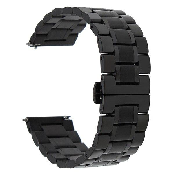 Stainless Steel Watch Band 22mm for LG G Watch W100 / W110 / Urbane W150 Quick Release Strap Butterfly Clasp Wrist Belt Bracelet   Watchbands