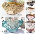 Sexy women lace underwear Beautiful body toning Intimates embroidery lovely lace briefs for women cute panties lingerie ZXL-14