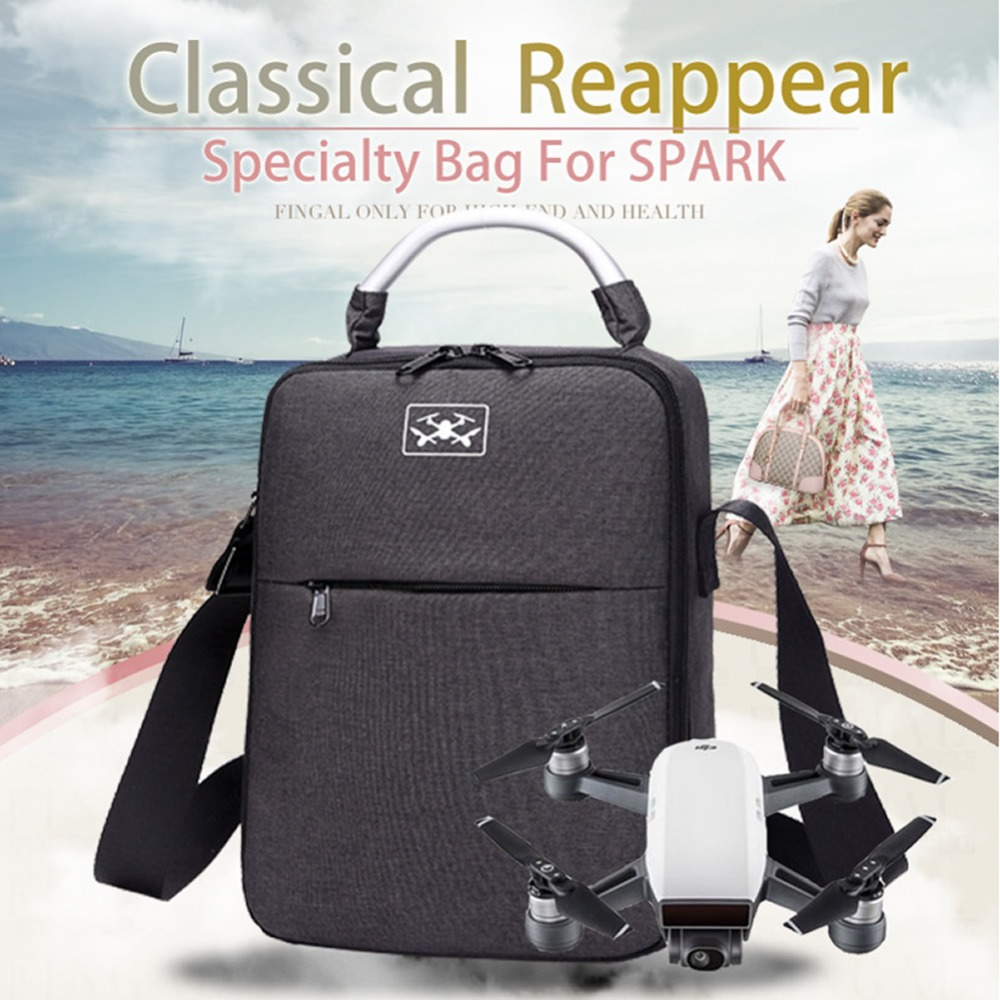 купить New Arrival Shoulder bag Carrying Storage Bag Case Fancy Oxford cloth For DJI Spark Drone Accessories Free Shipping по цене 1692.46 рублей