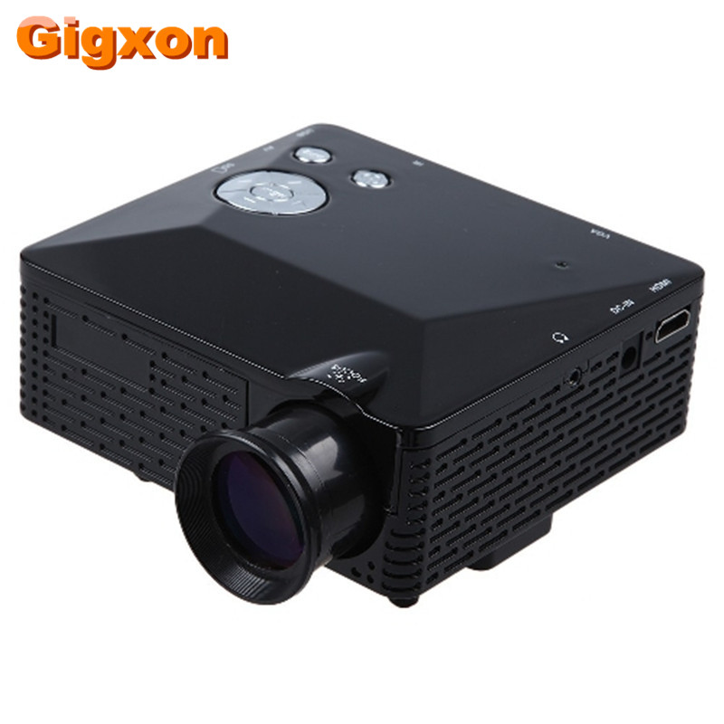 Gigxon - G810 HD Home Theater Cinema LCD Image System 80 Lumens MINI LED Projector with AV/VGA/SD/USB/HDMI free shipping
