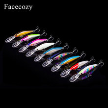 Facecozy 1Pc Luminous Floating Fishing Lure Swimbait for Built-in Steel Ball Crankbait Highly Realistic Artificial Bait